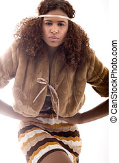 African high fashion pose - Happy african girl in a fashion...