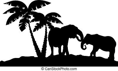 african landscape reflection