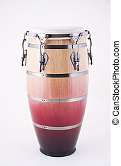 African Latin Conga Drum Isolated On White - An African or...