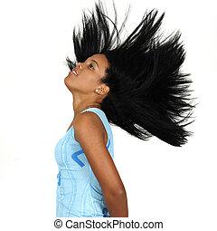 African long hair beauty