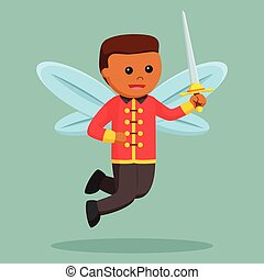 African male fairy royal guard