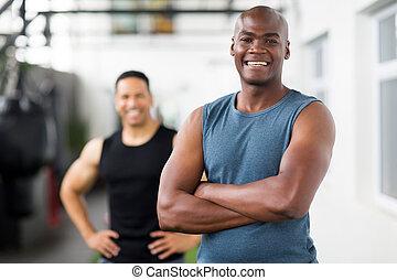 african male gym trainer portrait