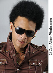 African male model - Portrait of young handsome african male...