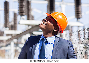 african male power plant inspector - african male inspector...