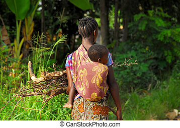 African mama  - African mother and child