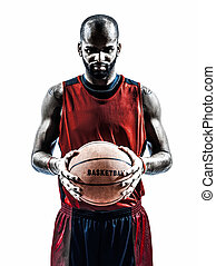 african man basketball player silhouette