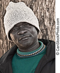African man - Portrait African American male mid age, ...