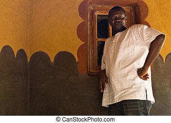 African man
