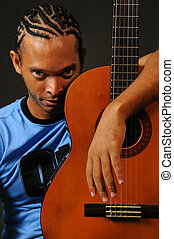 African man with guitar