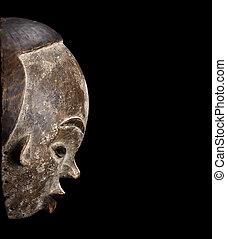 african mask carved
