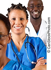 african medical professionals - group of african medical...