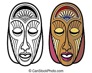 indian tribal masks coloring pages - photo#27