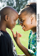african mother loving son