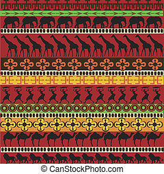 african motifs in bright tones
