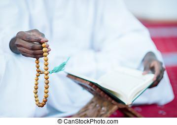 African Muslim Man Praying To God