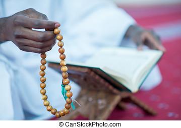 African Muslim Man Praying To God - African Muslim Man...