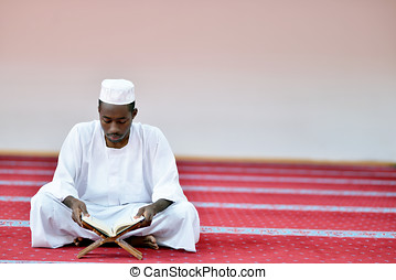 African Muslim Man Praying To God