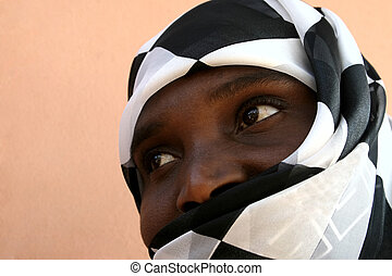 African Muslim woman - abeautiful african Muslim woman with...