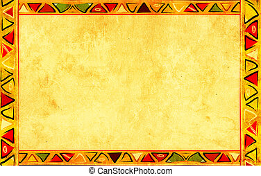 African national patterns - Grunge background with African...
