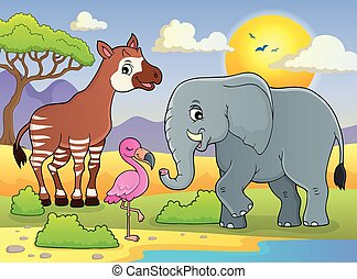 African nature theme image 7