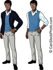 African office clerk in casual formal wear - office clerk of...