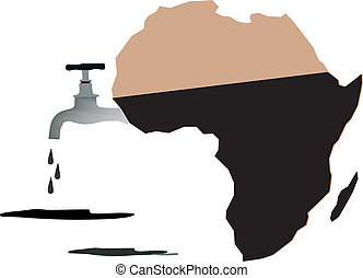 African oil tank - oil reserves in Africa with regulator