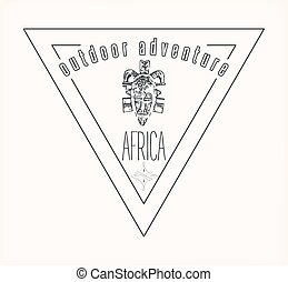 african outdoor adventure logo.