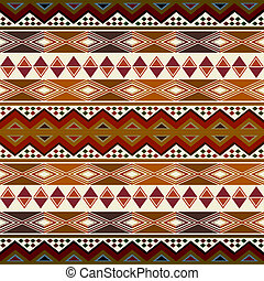 Multicolored african pattern with geometric shapes/symbols