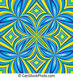 Trendy ethnic textile design in vivid and lucid colors, seamless