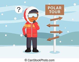 African polar explorer lost in arctic