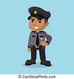 African police officer character