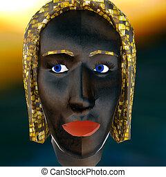 African ritual voodoo mask