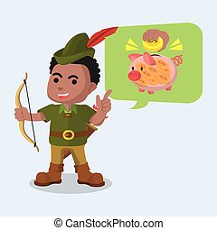 African robin hood telling to save money