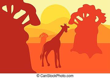 African Safari Park Landscape