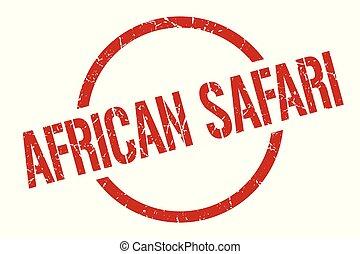 african safari stamp