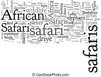 African Safaris What Kind Are There text background ...