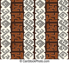 African seamless pattern in native grungy style