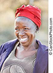 african senior citizen woman
