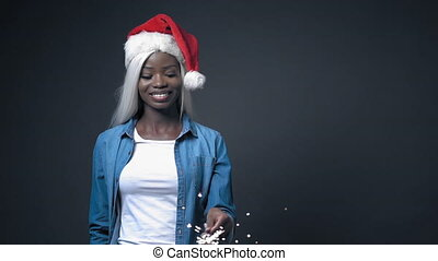 African sexy girl with white hair happy New Year - African ...