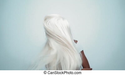 African sexy woman with white hair on white - African Young ...