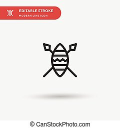 African Simple vector icon. Illustration symbol design template for web mobile UI element. Perfect color modern pictogram on editable stroke. African icons for your business project