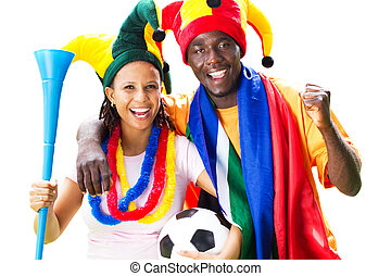 african soccer supporters