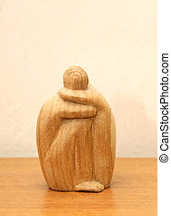 African statuette made of wood. - African statuette made of...