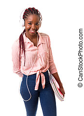 African Student - Beautiful african student woman posing...