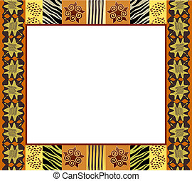 African style frame 1 - A vector illustration of an African...