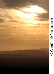 African Sunset and Mountains
