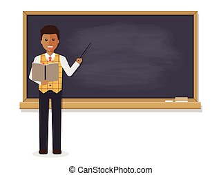 African teacher teaching in classroom - African teacher,...