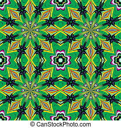 Modern and fancy fabrics with traditional motifs in vector art, seamless