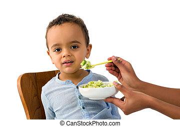 African toddler refusing to eat