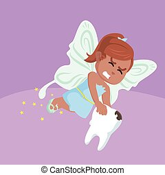 African tooth fairy illustration